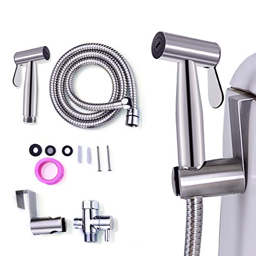 Bidet Sprayer for Toilet and Baby Cloth Diaper Washer ,Diaper Sprayer for Sink Hand Shower for Toilet attachments Easy to Install ( (Press-Free)