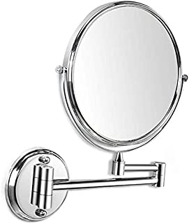 BMJ&C Makeup Mirror with 3X Magnification Double-Sided Swivel Mirror,8-Inch Wall Mount Polished Chrome Finished (Size : 8 inch/3×)