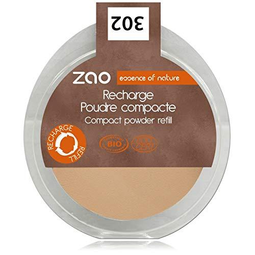 ZAO REFILL Compact Powder 302 beige-orange Kompaktpuder-Nachfüller (bio, Ecocert, Cosmebio,...