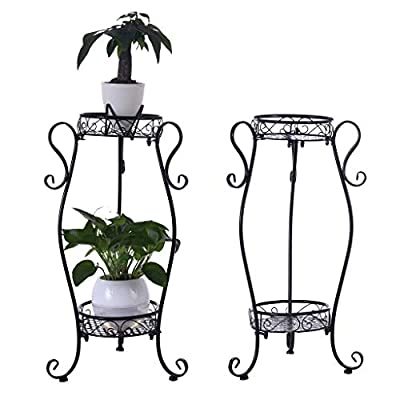 US Fast Delivered Metal Potted Plant Stand, 32i...