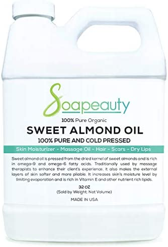 SWEET ALMOND OIL Organic Cold Pressed Unrefined 100 Pure Natural Available in Bulk Carrier for product image