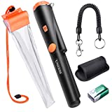 UNIROI PinPointer Metal Detector with Waterproof Case, Metal Detector with 9V Battery, Buzzer Vibration LED Indicator Automatic Tuning (New Version)