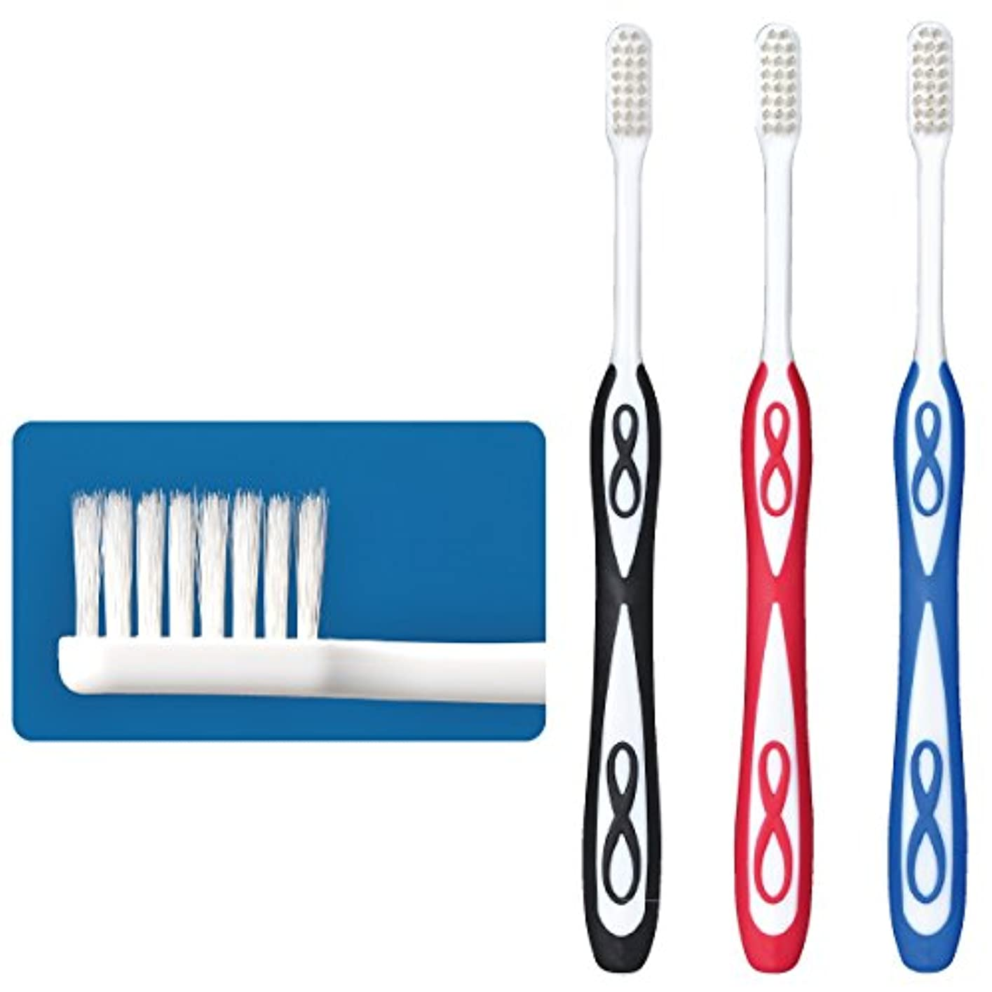 手錠交渉する不完全なLover8(ラバーエイト)歯ブラシ レギュラータイプ オールテーパー毛 Mふつう 30本入