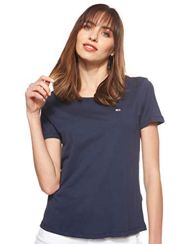 Tommy Jeans Damen Tjw Soft Jersey Tee Sport Pullover, Blau (Blue 002), 38 (Herstellergröße: Large)