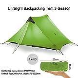KIKILIVE ultraleichtes Campingzelt Neues LanShan für den Außenbereich,1Person / 2 Personen/ 3 Personen