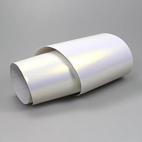 Tiptopcarbon 16 45 M Perlmutt Folie Weiß Violett Autofolie Blasenfrei 0 5m X 1 52m Folie Mit Luftkanäle Selbstklebend Küche Haushalt