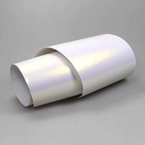 TipTopCarbon 16,45€/m² Perlmutt Folie Weiß/Violett Autofolie BLASENFREI 0,5m x 1,52m Folie mit Luftkanäle selbstklebend