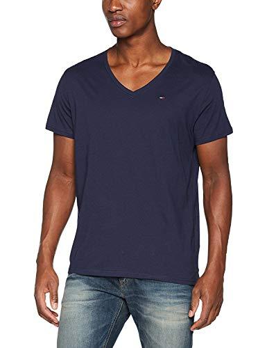 Tommy Jeans Original Jersey Camiseta, Azul (Black Iris 002), Large para Hombre