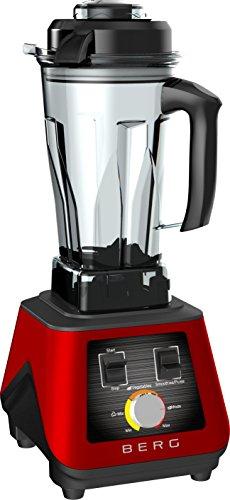 BERG 1500W 2HP Commercial Pro Specialist Health Nutrition Blender/Smoothie Maker/Soup Maker - Red