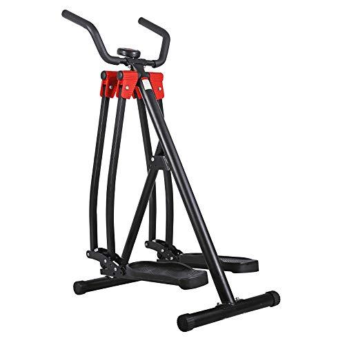 Dfghbn Ellipsentrainer Air Walker Glider Elliptical-Maschine mit Seiten Sway Aktion for die Übung Startseite Fitness Workout Home Fitnessgeräte (Farbe : Black, Size : Free Size)