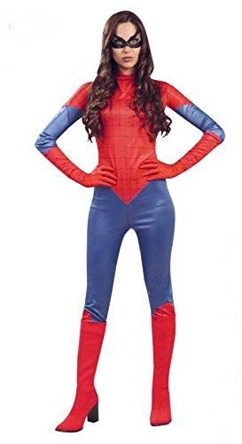 shoperama Super Heronina Spinnenfrau Damen-Kostüm Gr. S/M Superhero Comic Superheldin