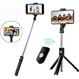 MePhoria 2 in 1 Selfie Stick Integrated Tripod with Wireless Bluetooth Remote, Ultra