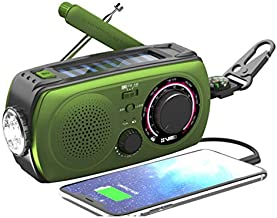 Emergency Radio Hand Crank Radio Weather Radio-VMEI NOAA Weather Radio with AM/FM,2300mAh Power Bank USB Charger,Flashlight,SOS Alarm.for Household and Outdoor Emergency Device(Green).