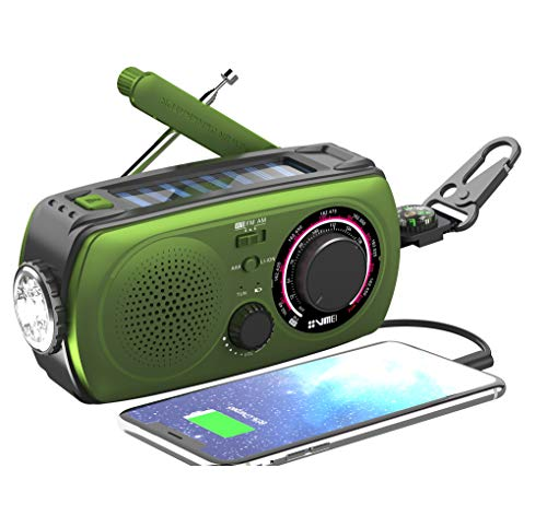 weather radio for kids Emergency Radio Hand Crank Radio Weather Radio-VMEI NOAA Weather Radio with AM/FM,2300mAh Power Bank USB Charger,Flashlight,SOS Alarm.for Household and Outdoor Emergency Device(Green).