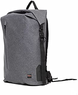 """Knomo Thames Cromwell, 14"""" Water-Resistant Roll Top Laptop Backpack, with RFID Pocket, Blue"""