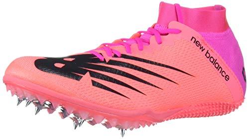 New Balance Women's Short Distance 100 V3 Spike Running Shoe, Guava/Peony, 8 M US