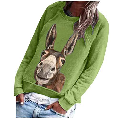 T Shirt Damen Sommer Herbst Rundhals Regenbogen Muster T-Shirt Frauen Langarm Shirt Oberteile Lässige Hemd Grafik Drucken Tops Bluse Oberteile Tee S-3XL