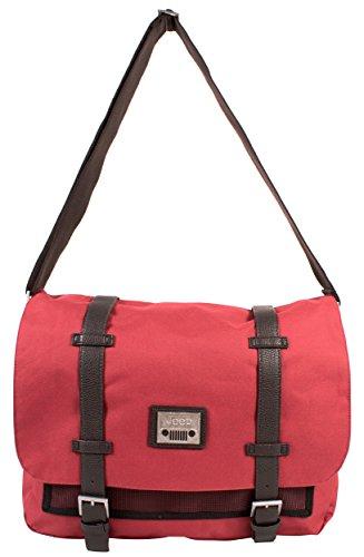 PH-1439 Red Jeep Messenger Unisex School Laptop Shoulder Bag
