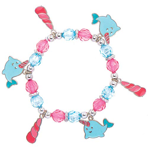 Baker Ross AT720 Unicorn Whale Bracelet - Pack of 3, Jewellery Making Kit, Great Kids Accessory, Ideal Gift or Party Bag Filler