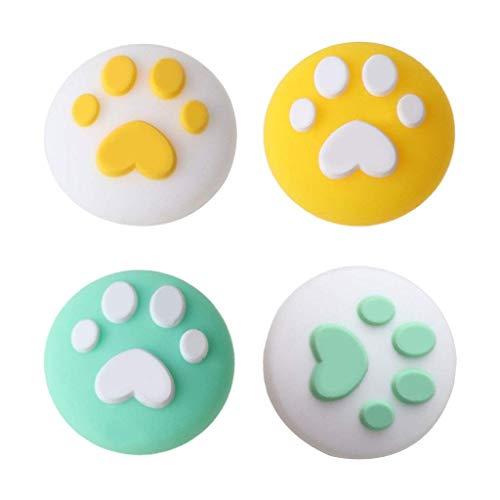 4 tapas de agarre para el pulgar con diseño de garra de gato, suave funda protectora de silicona para interruptor NS/Switch Lite para mando Joy-Con, para amantes del juego, regalos y llaves