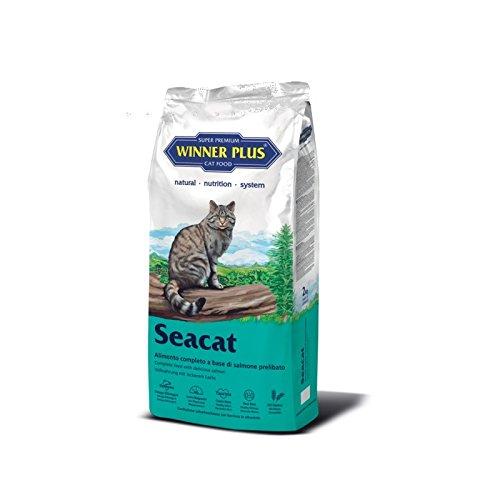 WINNER PLUS Seacat 2 kg - Alimento naturale, completo e senza glutine per gatti adulti di tutte le razze e per gatti sensibili con intolleranze alla carne