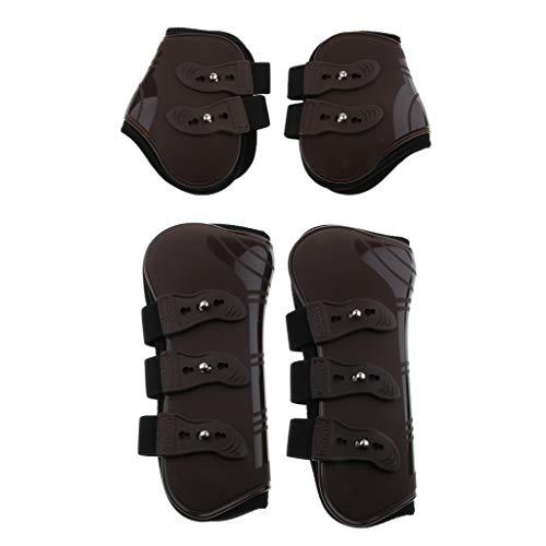 IPOTCH 2 Paar Pferde Stiefel Beinschutz Set