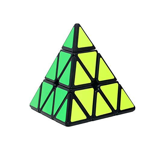 NiceButy 1pc Pirámide sin pegatinas Speed Cube Triangle Cube Puzzle (negro)