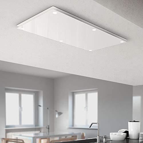 Bielmeier V Deckenlüfter CESOLO/Glas weiß / 100x50 cm/max. 690 m³/h/EEK: A+