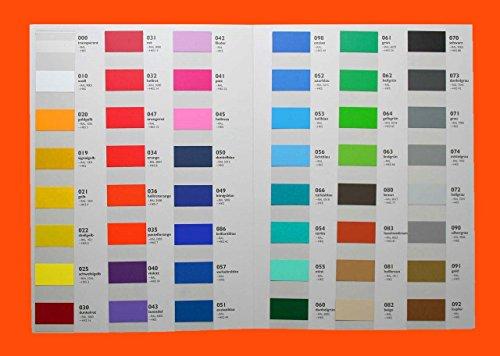 Dinger-Design Klebefolie HOCHLEISTUNGSFOLIE Fliesenfolie Modellbau Plotterfolie Möbelfolie Wunschfarbe 63 x 100cm je Laufmeter (MATT)