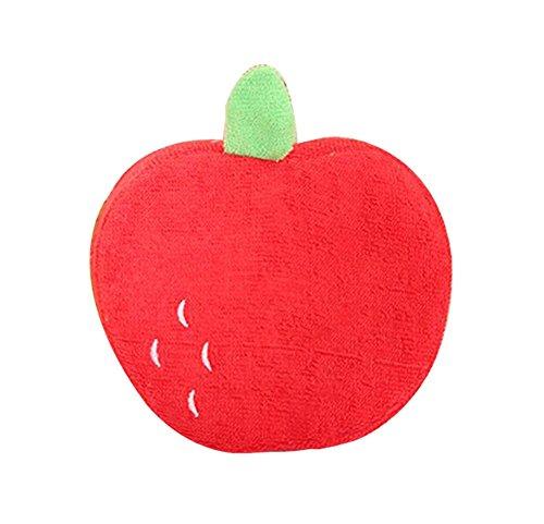 Le sens stéréo est une forme de fruits forts Éponges de bain en coton de bain pour bébé, pomme