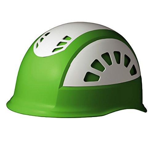 ミドリ安全 ヘルメット 作業用 ABS製 通気孔付 消臭汗止内装 SC17BV RA NS KP付 グリーン/ホワイト