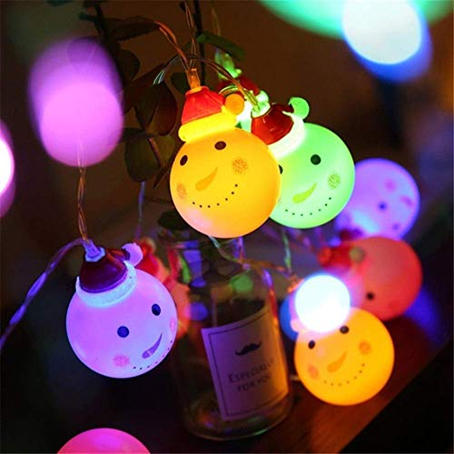 ARTFFEL Fly Decorative String Lights Outdoor Indoor Christmas Products LED Santa String Lights Waterproof LED Lights Decors for Xmas Parties Christmas Tree Battery or USB Operated Birthday