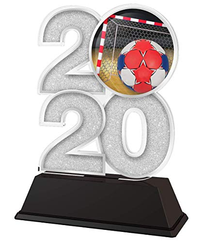 Trophy Monster 2020 - Trofeo de fútbol Sala, Premio Oro, Plata o Bronce, Hecho de acrílico Impreso, 120 mm