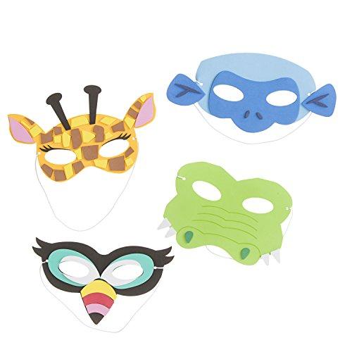Darice 132 Piece Foam Animal Mask Kit, Multicolor