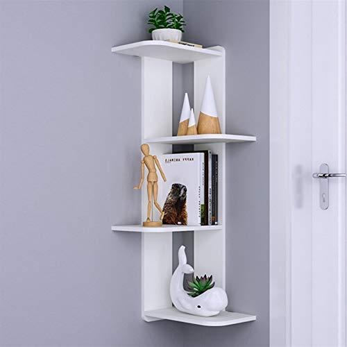 Hörnhylla lagringshylla på väggen sovrum vardagsrum vägg hängande vägg partition triangel hörn hylla bokhylla, vit