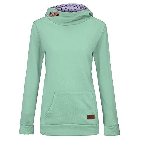 TOPKEAL Hoodie Pullover Damen Herbst Winter Kapuzenpullover Reine Farbtasche Sweatshirt Winterpullover Lässige Jacke Mantel Tops Mode 2020 …