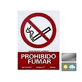 Normaluz RD40000 Señal PVC Prohibido Fumar 21X30 cm, Rojo