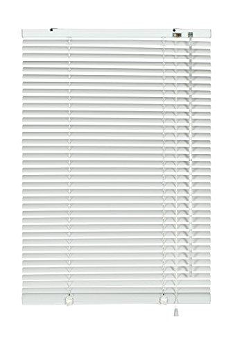 GARDINIA Alu-Jalousie, Sicht-, Licht- und Blendschutz, Wand- und Deckenmontage, Alle Montage-Teile inklusive, Aluminium-Jalousie, Weiß, 200 x 175 cm (BxH)