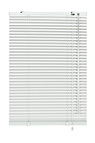Gardinia 6922 Jalousie - Persiana (Aluminio, 25 mm, 120 x 240 cm), Color Blanco