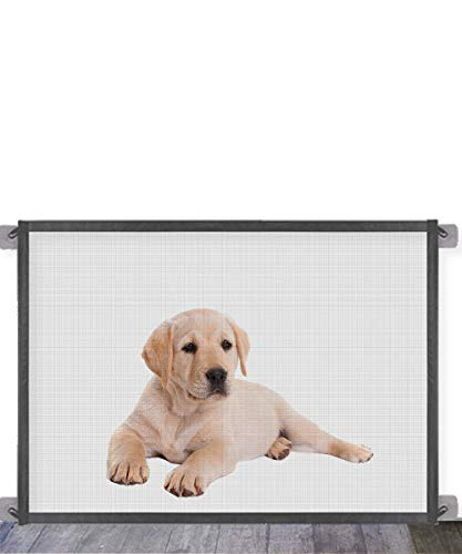 Queenii Magic Gate for Dogs Pet Safety Gate, Mesh Dog Gate Portable...