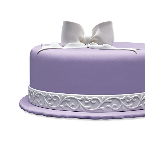 Cake Company Fondantrand 5m 5cm weiߟ Doppelte Ranke 1er Pack (1 x 700 g)