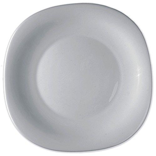 Bormioli Rocco 6238003 Parma 6 Piatti per Frutta, 20 cm, Bianco, bambù, 6 unità