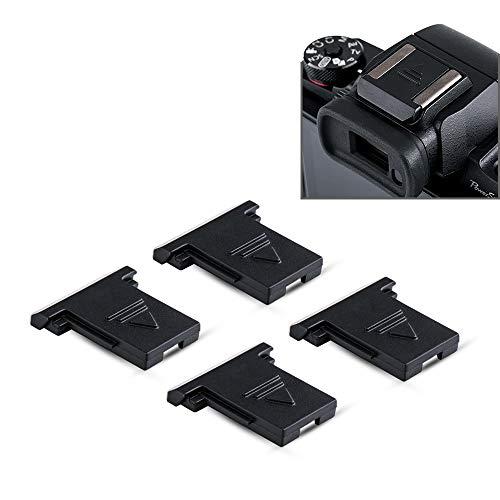 4PCS Camera Hot Shoe Cover Protector Cap for Canon EOS R5 R6 R RP M50 M5 DSLR EOS 1D 1DX 1Ds Series,5D & Mark IV III II 5DS 5DSR 6D 6DM2 7D 7DM2 90D 80D 77D 70D Rebel T8i T7i T7 T6s T6i T6 T5i SL3 SL2
