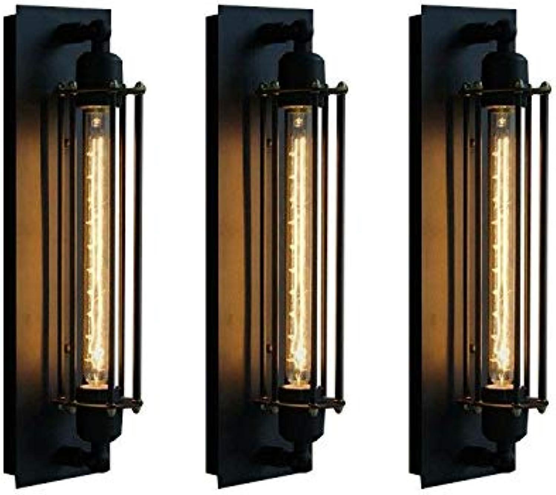 VLING Wandlampe, Rustikal Lodge Wandleuchten & Wandlampen aus Metall Wandleuchte 110-240V 40W