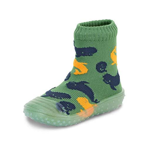 Sterntaler Baby - Jungen Adventure-Socks, Socke mit Gummisohle, Wasserschuh, Größe: 29/30, Grün