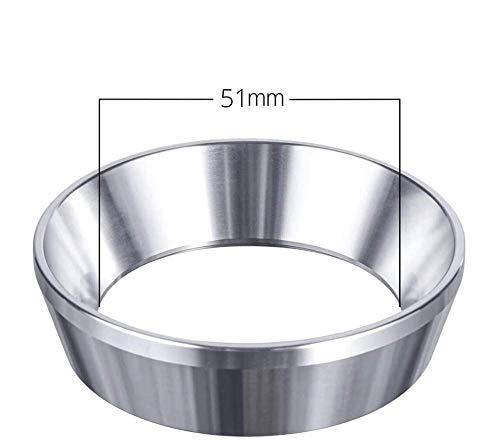 Neu: Espresso-Trichter für Siebträger 51 mm - Edelstahl Dosierring zum exakten befüllen des Kaffeepulver, Portafilter Fülltrichter zum präzisen tampern, Barista Equipment für einen exakten Kaffeepuck