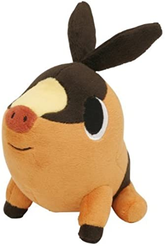 alta calidad general Pokemon Center negro & blanco blanco blanco Plush Toy - 6 Pokabu   Tepig (Star Tag) (Japanese Import) by Pokemon Center  diseño simple y generoso