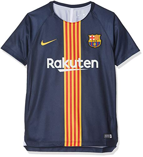 Nike FC Barcelona Dry-Fit Maillot Mixte Enfant, Midnight Nav