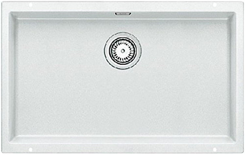 Weiß SUBLINE 700-U PuraDur2 Spüle Silgranit o.AF., Farbe weiss