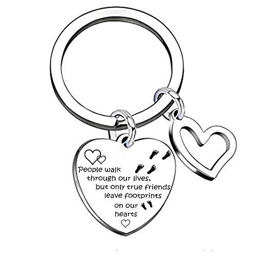 Die Menschen gehen durch unsere Liebhaber Schlüsselanhänger für Frauen Männer Schlüsselanhänger Freundschaft Geschenke Tag für Klassenkameraden